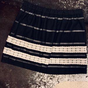 "Tracy Reese ""plenty"" black skirt"